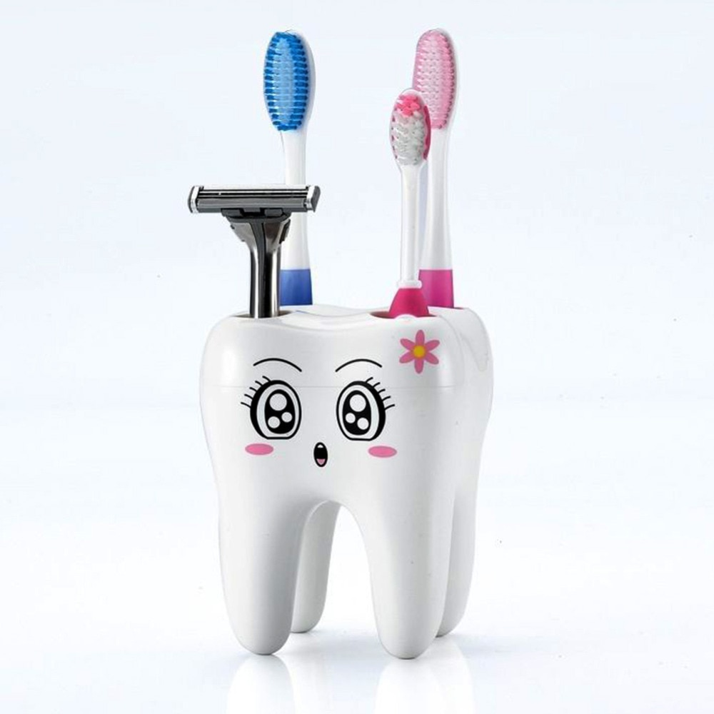 [해외]Cartoon Toothbrush Holder 4 Hole Style Stand Tray Brush Container Bathroom Product/Cartoon Toothbrush Holder 4 Hole Style Stand Tray Brush Contain