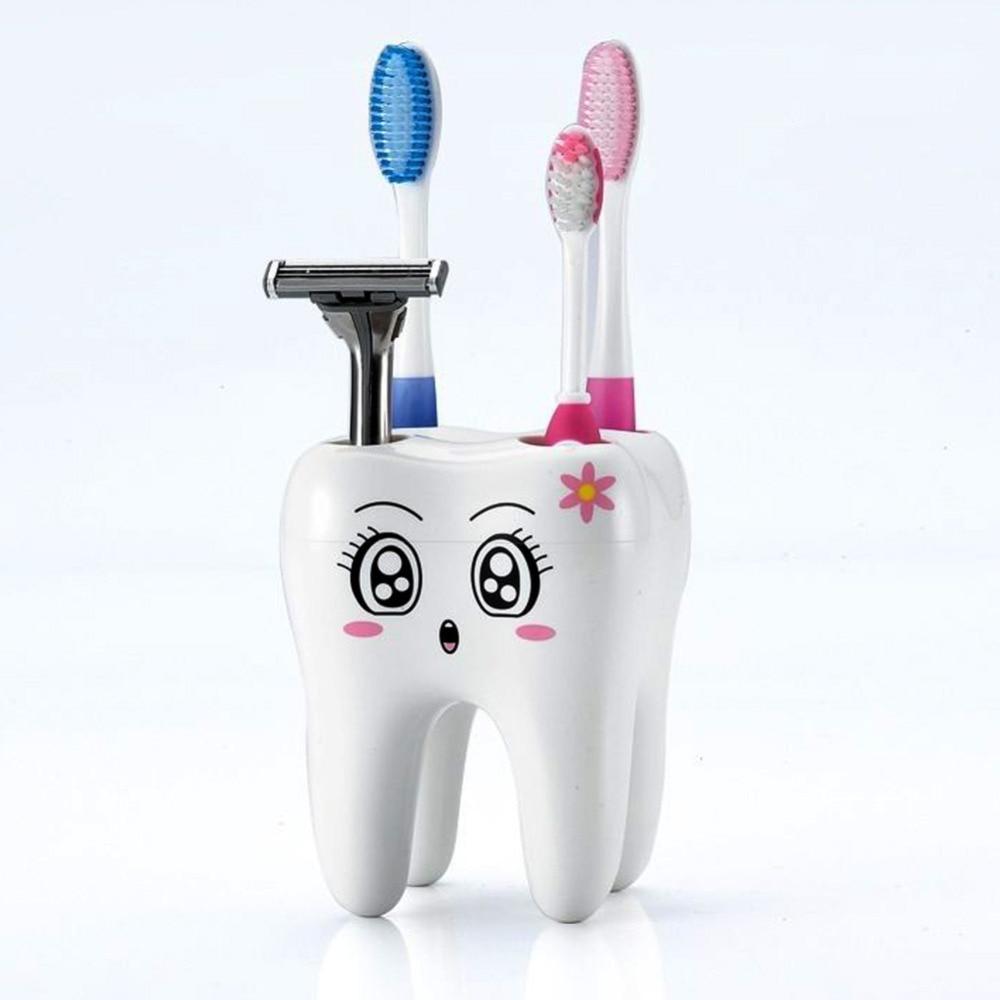 [해외]Cartoon Toothbrush Holder 4 Hole Style Stand Tray Brush Container Bathroom Product/Cartoon Toothbrush Holder 4 Hole Style Stand Tray Brush Contain