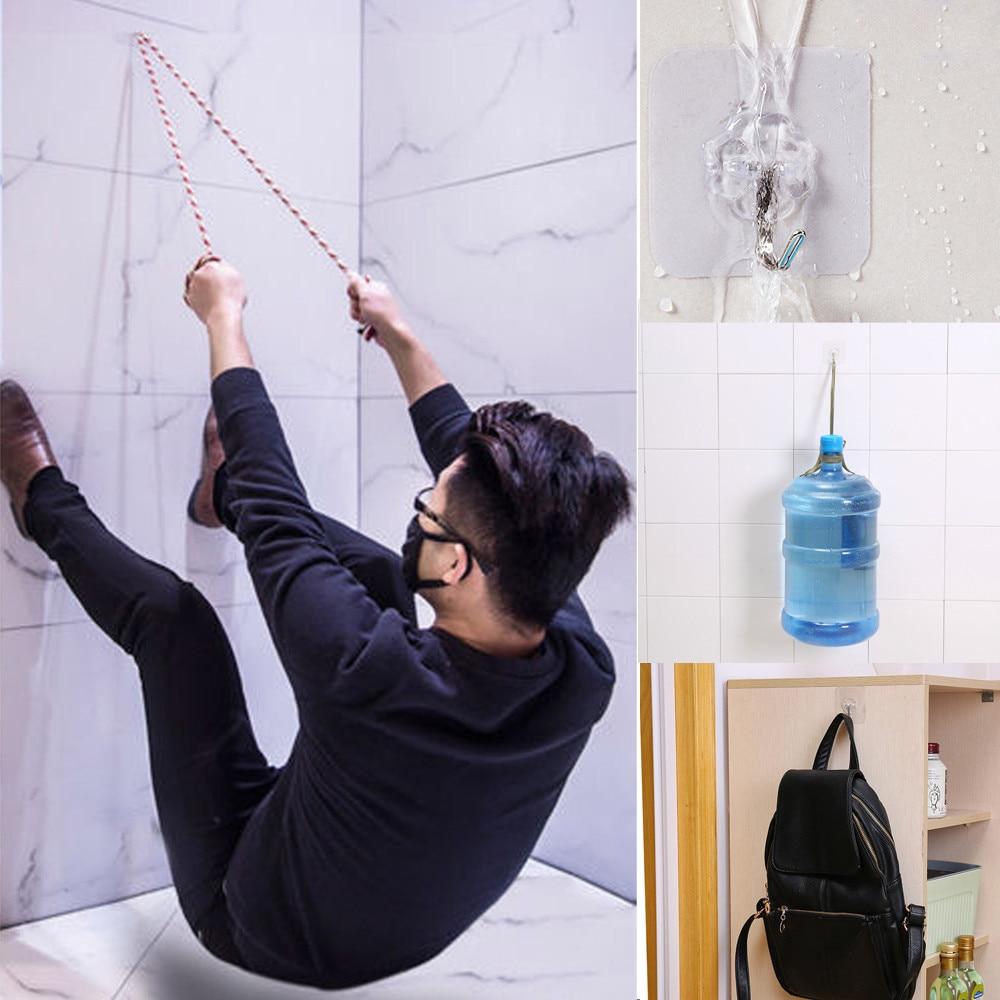 [해외]4Pcs/lot Bearing 3KGS Transparent Self-adhesive Strong Wall Hook Lucky Clover Kitchen Hooks Waterproof Bathroom Accessories/4Pcs/lot Bearing 3KGS