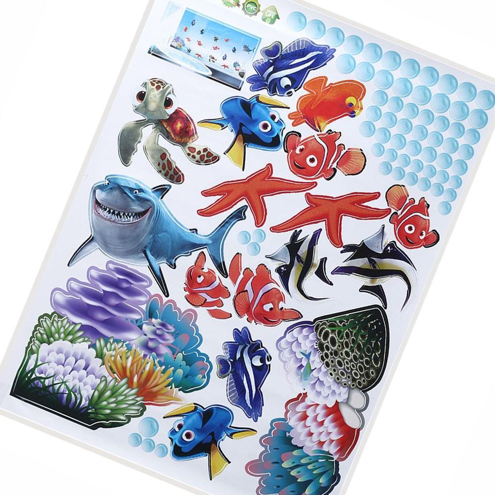 [해외]Sea Animals Ocean Fish Shark Wall Stickers Bath Room Kid Wall Decals Mural Decor/Sea Animals Ocean Fish Shark Wall Stickers Bath Room Kid Wall Dec
