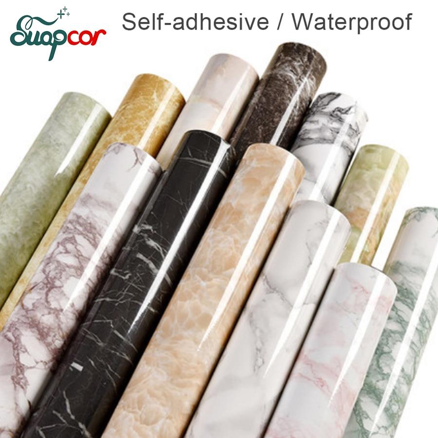 [해외]3M /5M Marble decorative film Self adhesive PVC Wallpaper Kitchen Modern contact paper for Bathroom waterproof wall stickers/3M /5M Marble decorat