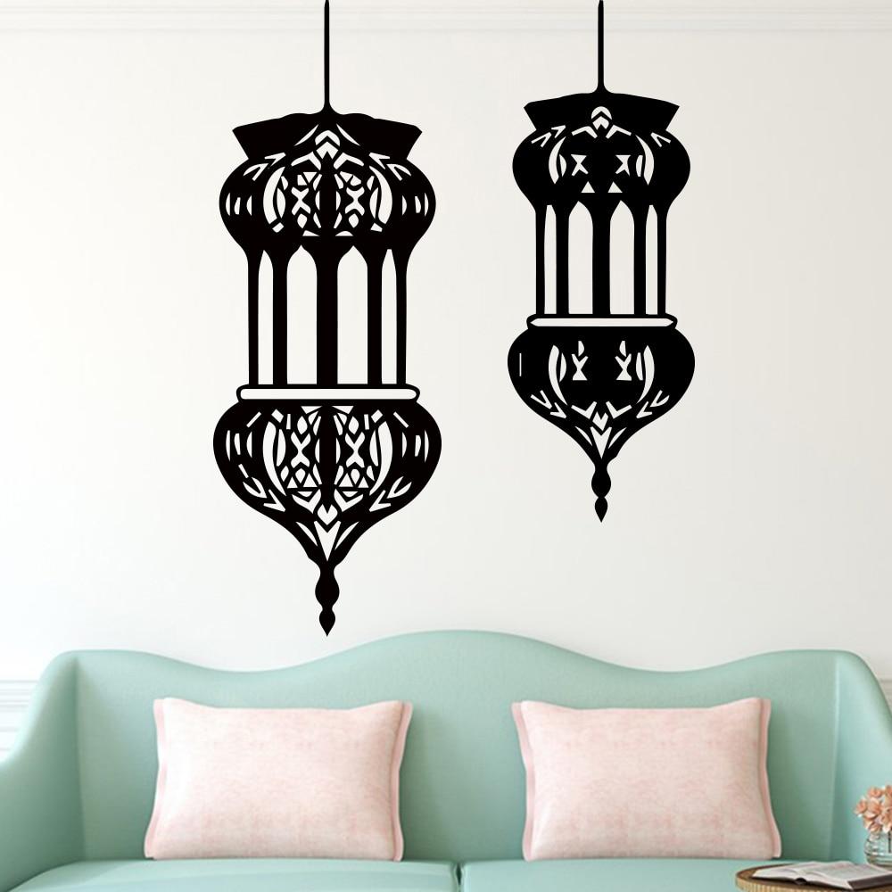 [해외]Lantern Wall Stickers for floor Home Decor Livingroom Bedroom Vinyl Removable Wall Art Decals sticker adesivo de parede/Lantern Wall Stickers for