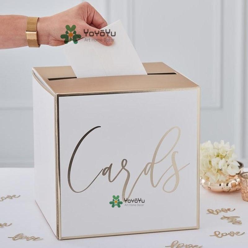 [해외]Wedding Card Holder Post Box Decal Wedding Decorations Wedding Card Box decoration logo Mural Wedding Guest Cards Gift CardZW408/Wedding Card Hold