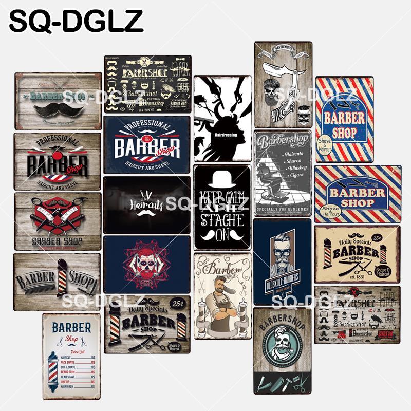 [해외][SQ-DGLZ] 새로운 이발소 틴 로그인 벽 장식에 침착하고 stache 유지 금속 공예 회화 플라크 아트 포스터/[SQ-DGLZ] 새로운 이발소 틴 로그인 벽 장식에 침착하고 stache 유지 금속 공예 회화 플라크 아트 포스터