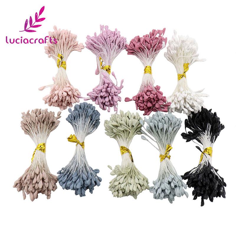 [해외]Lucia crafts 900pcs/lot 3mm mixed 9 colors Matte double heads flower stamen pistil cake decoration DIY craft 11060315(900)/Lucia crafts 900pcs/lot