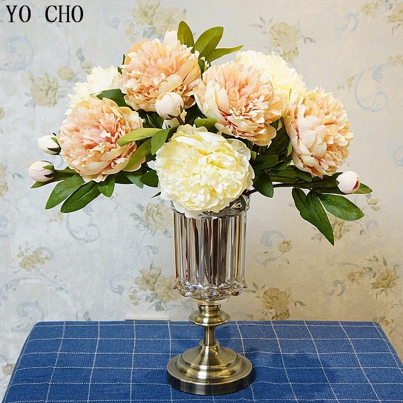 [해외]Yo cho 레트로 큰 인공 모란 꽃 지점 diy 야외 정원 발코니 장식 실크 가짜 꽃 결혼식 홈 꽃병 장식/Yo cho 레트로 큰 인공 모란 꽃 지점 diy 야외 정원 발코니 장식 실크 가짜 꽃 결혼식 홈 꽃병 장식