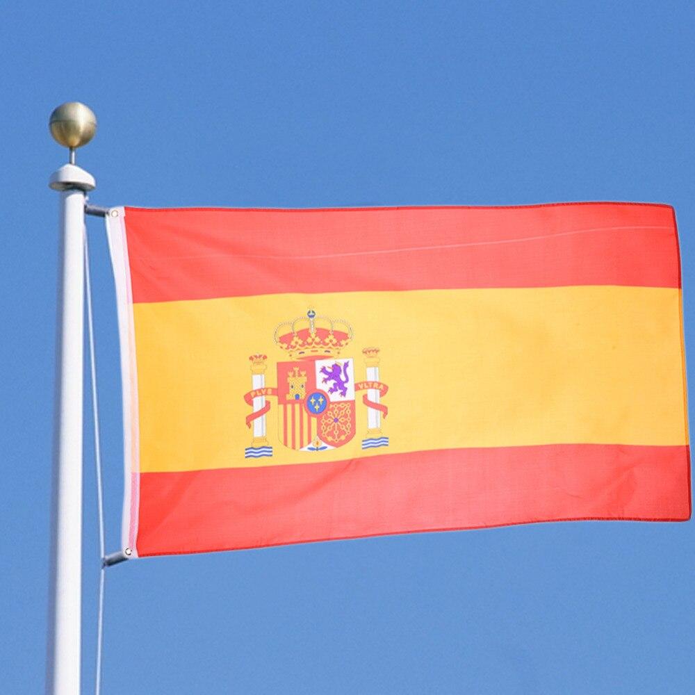 [해외]New Spanish Flag Polyester Hanging National Country Flag Banner Festival Activity Events Decoration Home Decor 90x150cm/New Spanish Flag Polyester