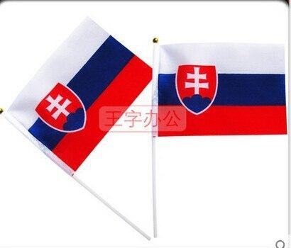 [해외] 14 * 21 cm Slovakia hand signal waving flag small banner  flags/ 14 * 21 cm Slovakia hand signal waving flag small banner  flags