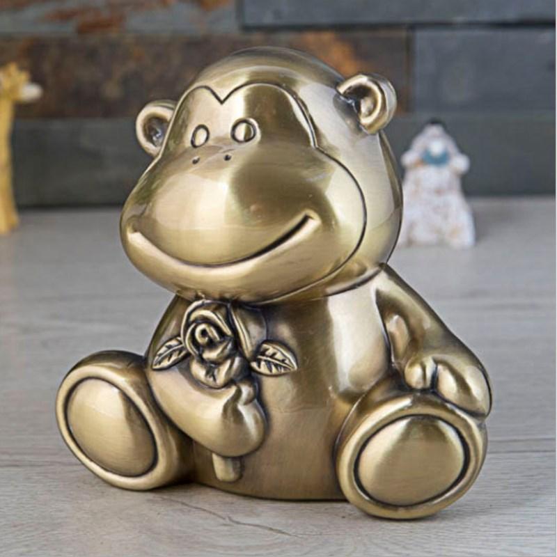 [해외]Zodiac Monkey Money Box Piggy Bank Metal Crafts Children`s Gifts Animal Creative European Home Decoration Ornaments /Zodiac Monkey Money Box Piggy