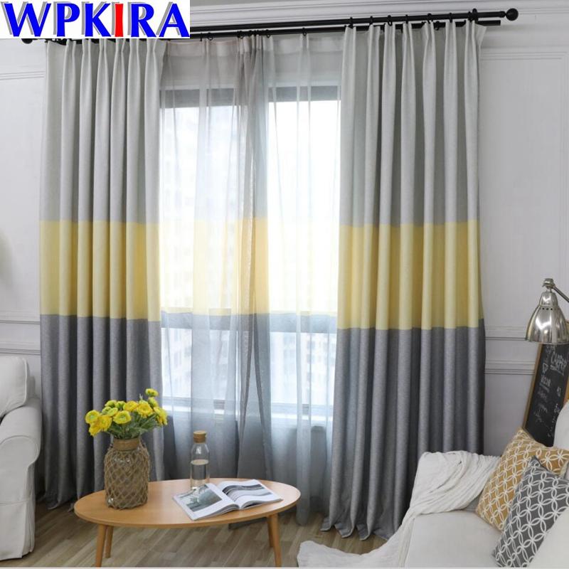 [해외]Blue Stripe Curtain for Bedroom Modern Semi Blackout Curtains Home Decoration Fashion Fabrics For Living Room Custom HC047-30/Blue Stripe Curtain