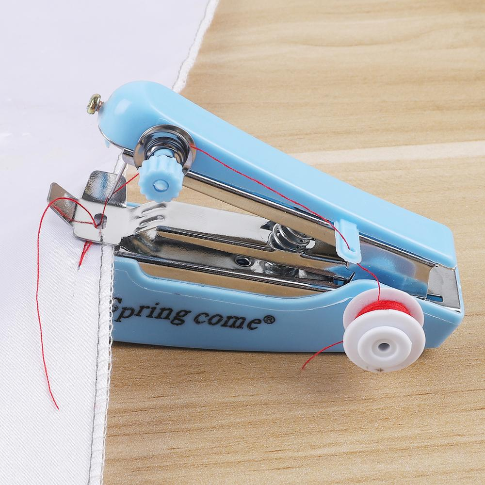 [해외]1pc Portable Mini Manual Sewing Machine Simple Operation Sewing Tools Sewing Cloth Fabric Handy Needlework Tool/1pc Portable Mini Manual Sewing Ma