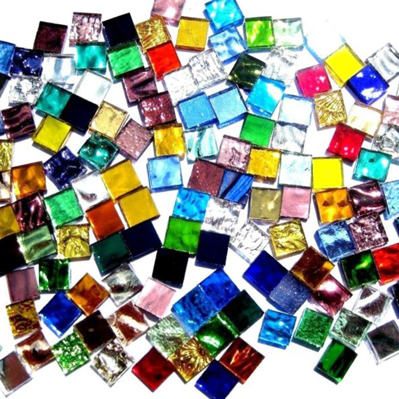 [해외]Mixed Assorted Color Square Glass Mosaic Tiles For DIY Crafts Art Set Hand Tool/Mixed Assorted Color Square Glass Mosaic Tiles For DIY Crafts Art