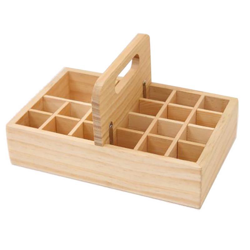[해외]21 그리드 나무 에센셜 오일 상자 나무 에센셜 오일 스토리지 박스 솔리드 우드 선물 상자 멀티 스퀘어 에센셜 오일 박스 새로운 도착