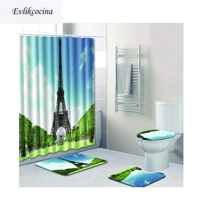 [해외]?글래스 랜드 Banyo 욕실 카페트 화장실 매트 세트 Antislip Tapis Salle 드 베인 Alfombra Bano 서 4pcs 타워/ 4pcs Tower Standing Glassland Banyo Bathroom Carpet Toilet Bath