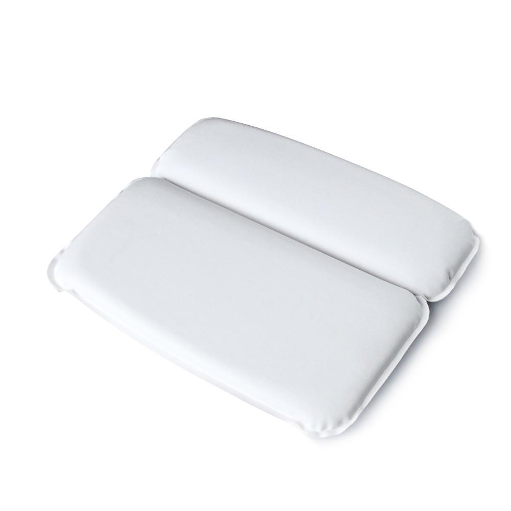 [해외]1Pcs Spa Bath Pillow  Bath Cushion Powerful Suction Cups Extra Soft 2-Panel Design for Shoulder Neck Support Fits Any Size Tub/1Pcs Spa Bath Pillo