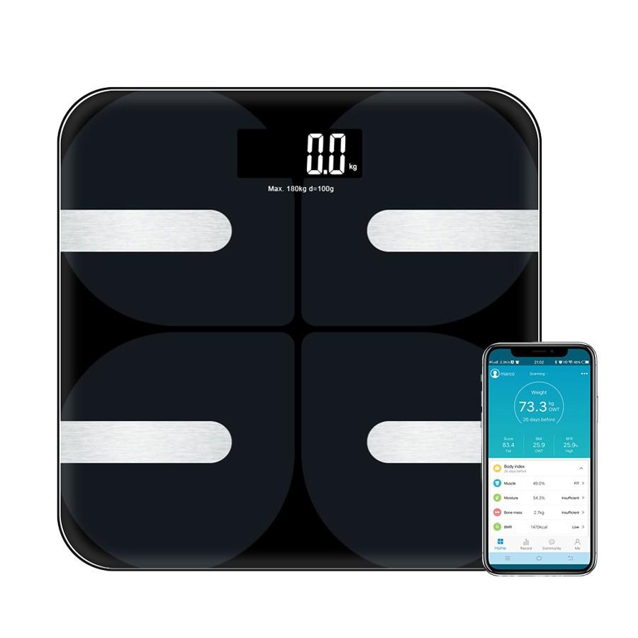 [해외]Premium Smart Bathroom Body weight Floor Scaleslarge LED Display Body Fat MonitorFree iOS and 안드로이드 App Bluetoot/Premium Smart Bathroom Body weigh