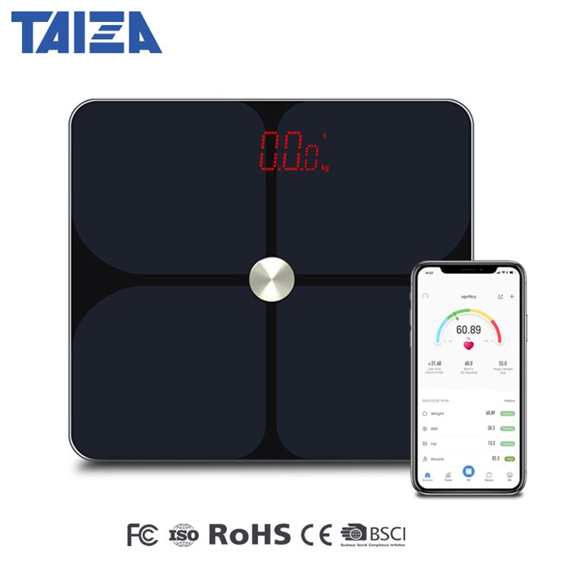 [해외]New Smart Weight Bathroom Floor Scales Digital Body Analyzer Scales Smart Bluetooth Bmi Body Fat Human Mi Weighing Scale Balance/New Smart Weight