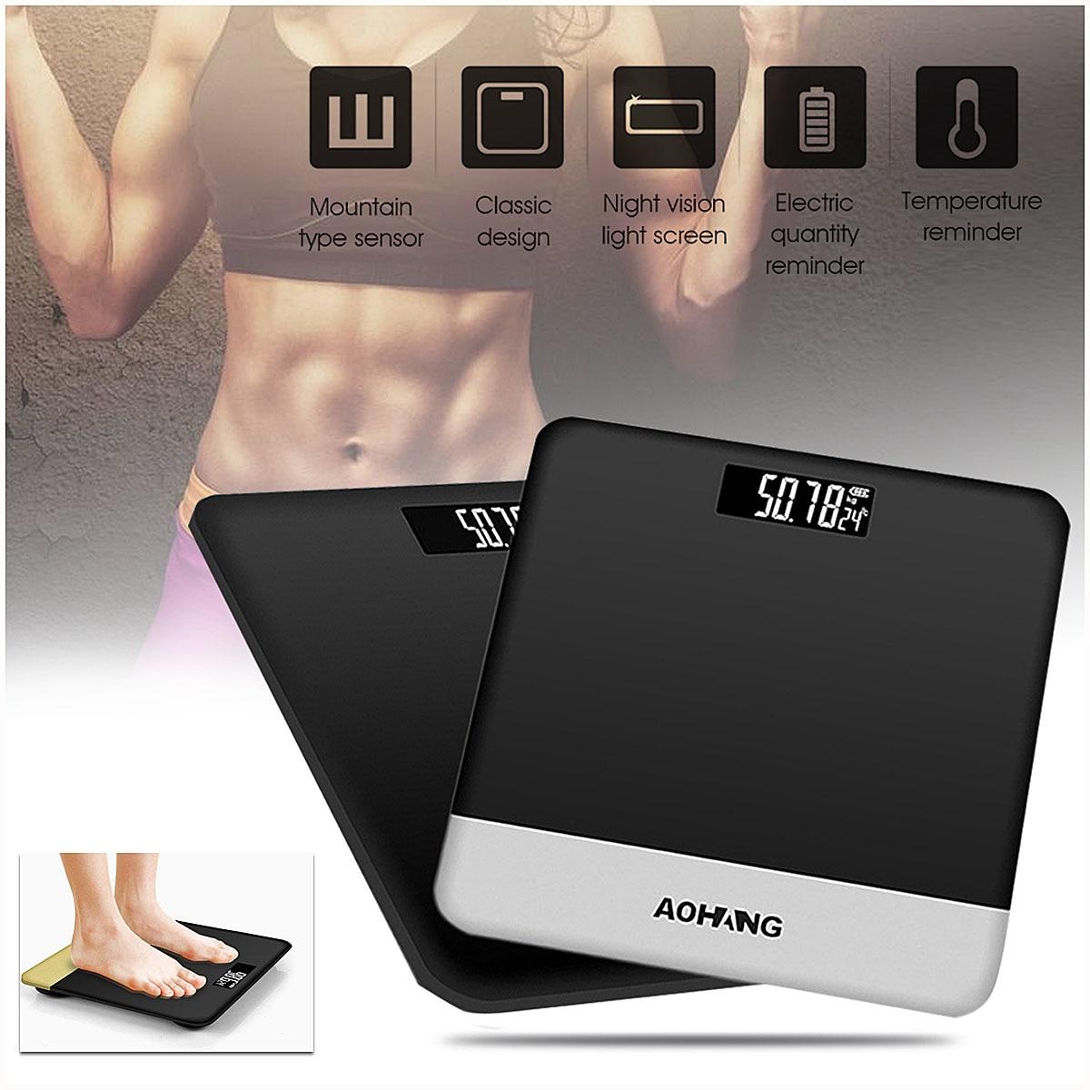 [해외]Holmark Electronic LCD Digitial Body Weight Scale Auto-power-off 6mm Tempered Glass Bathroom 190kg/400lb Grey /Black/Pink/Holmark Electronic LCD D