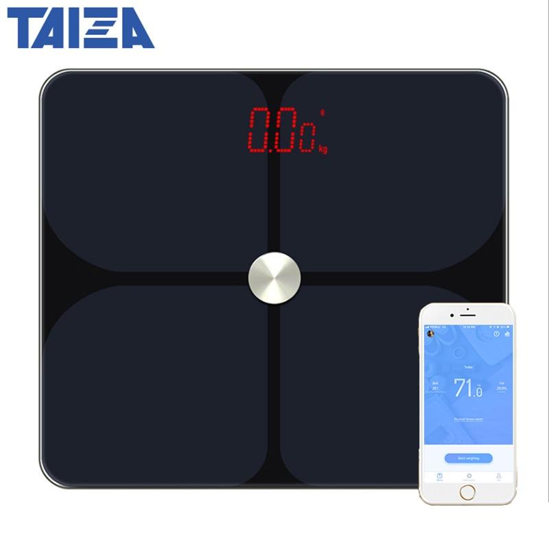 [해외]New Digital Body Weight Bathroom Scale Bluetooth Smart Human Weight Fat Scale Floor Home bmi Timbangan Digital Weighting Scale/New Digital Body We