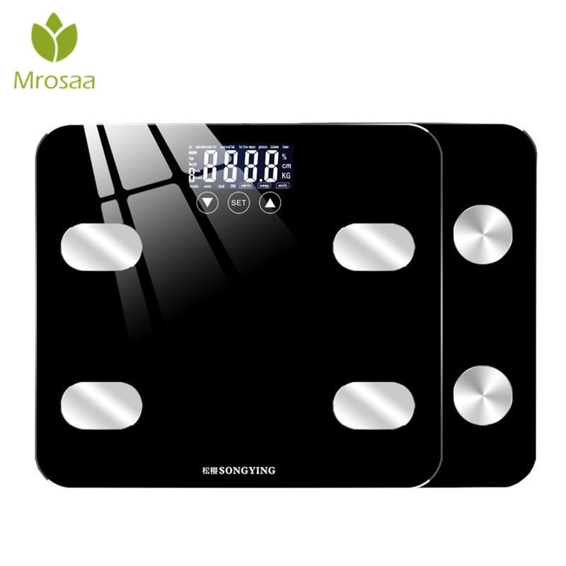 [해외]Smart Body Fat Scales Scientific LCD Display Electronic Scale BMI Weight Balance Bariatric Floor Scales Bathroom Scale 180KG/Smart Body Fat Scales