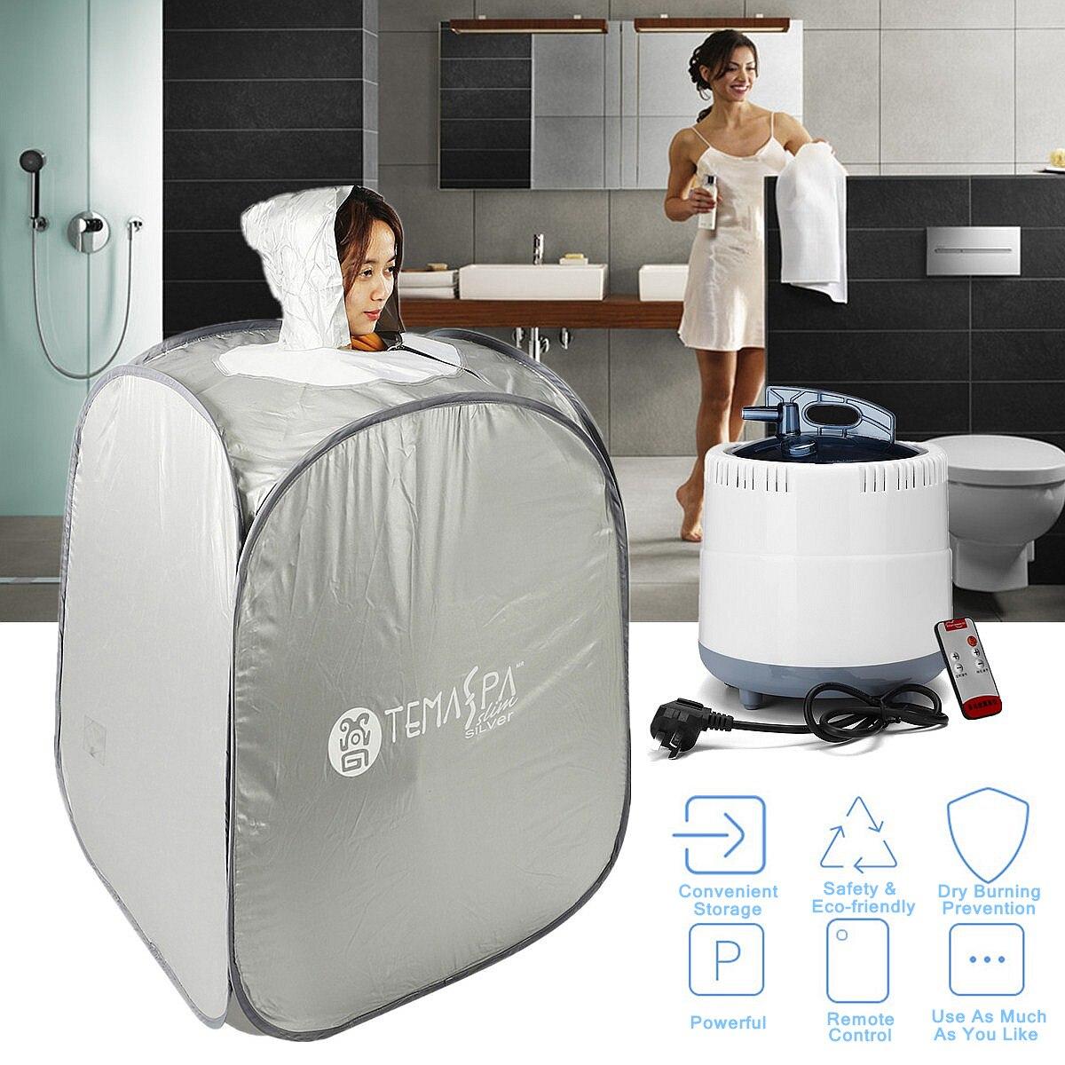 [해외]Indoor 2L 220V 60Hz 1000W Foldable Portable Steam Sauna Room Tent Loss Weight Slimming Skin Spa AU Plug For Personal Health Care/Indoor 2L 220V 60