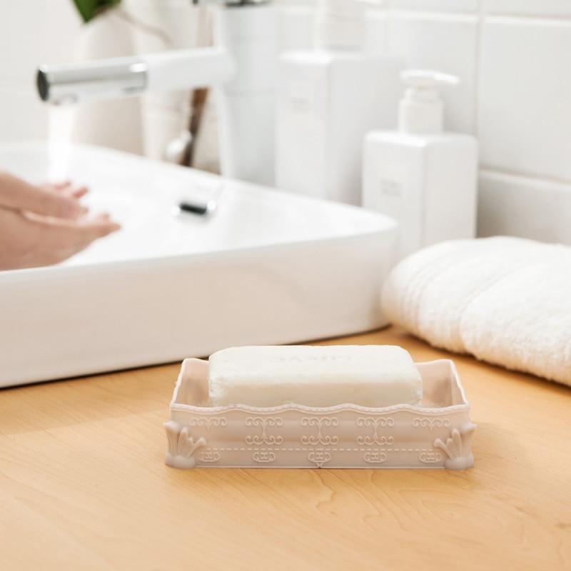 [해외]Plastic Soap Case Shower Soap Dish Bathroom Accessories Soap Box Tray Drain Holder Retangle Shape Bath Soap Box 4 Colors/Plastic Soap Case Shower
