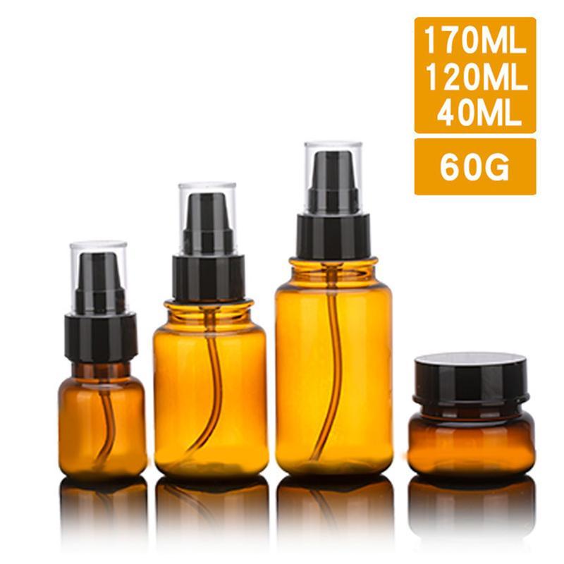 [해외]4pcs Bottle Plastic Liquid Massage Oil Lotion Shampoo Container DispenserDisc Caps Press Cap top for Women Traveling/4pcs Bottle Plastic