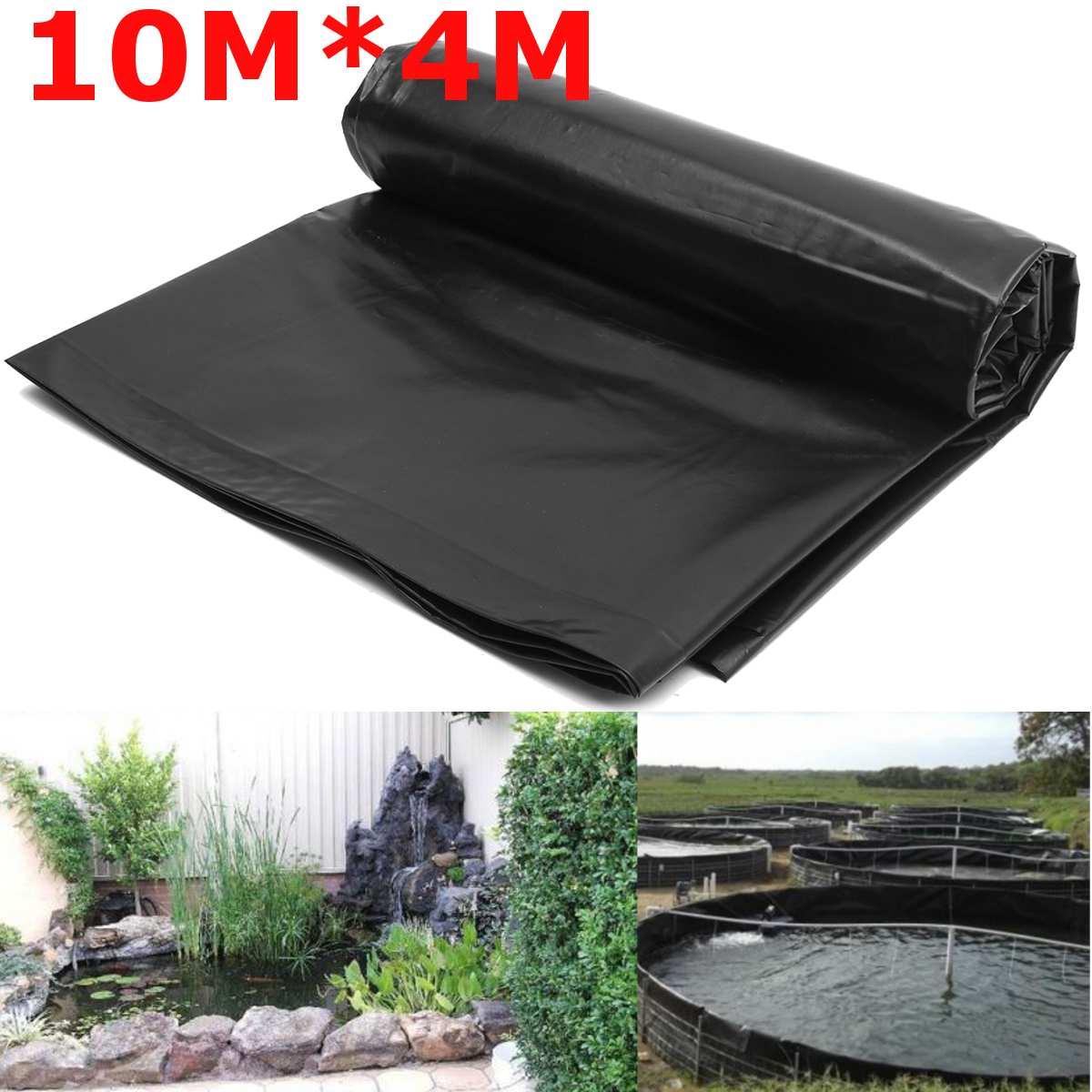 [해외]10x4m Fish Pond Liner Cloth Home Garden Pool Reinforced HDPE Heavy   Landscaping Pool Pond Waterproof Liner Cloth Black New/10x4m Fish Pond Liner