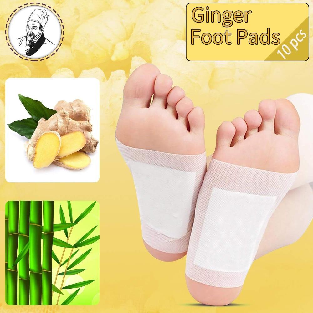 [해외]Destone 10pcs Foot Pads Ginger Foot Pads For Good Feet Foot And Body Care Apply Sleep Feel Better Improve Sleep Slimming Pads/Destone 10pcs Foot P