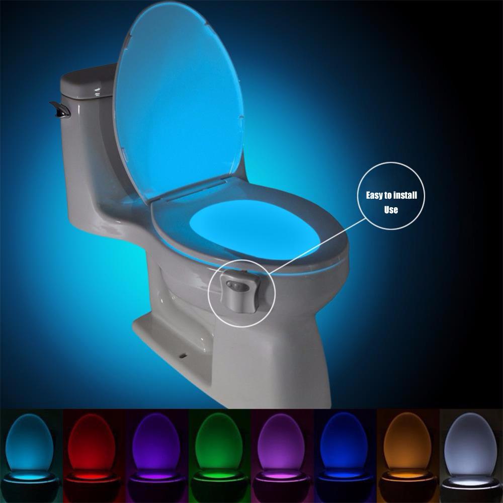 [해외]Washingroom Bathroom Accessory Smart PIR Motion Sensor Toilet Seat Night Light 8 Colors Waterproof Backlight For Toilet /Washingroom Bathroom Acce