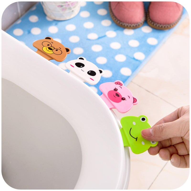 [해외]2 개/몫 목욕 욕실 제품 귀여운 만화 화장실 커버 리프팅 장치 화장실 뚜껑 휴대용 핸들 하우스 액세서리/2 개/몫 목욕 욕실 제품 귀여운 만화 화장실 커버 리프팅 장치 화장실 뚜껑 휴대용 핸들 하우스 액세서리