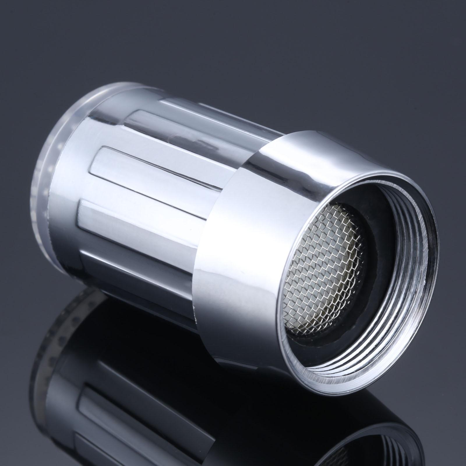 [해외]LED Water Faucet Stream Light Kitchen Bathroom Shower Tap Faucet Nozzle Head Temperature Sensor Blue Light Faucet/LED Water Faucet Stream Light Ki