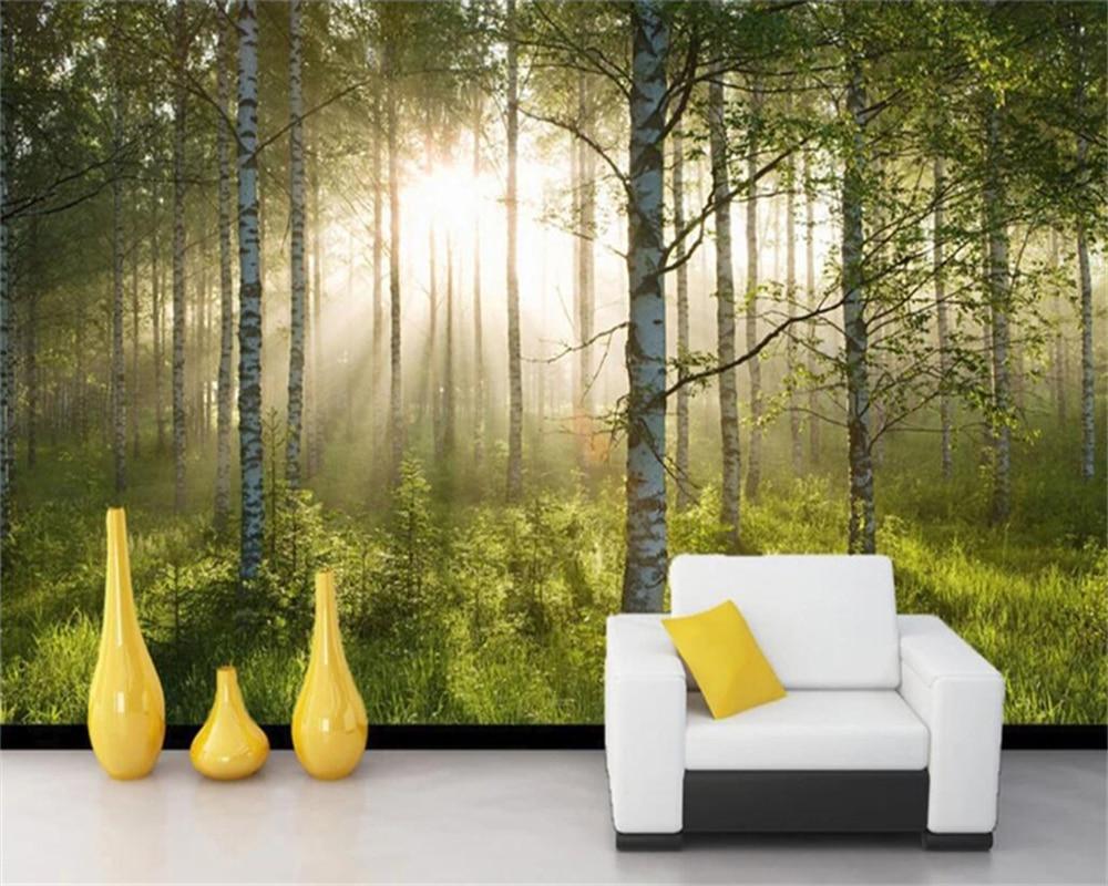 [해외]Decorative wallpaper Green Forest Sunshine TV Background Wall/Decorative wallpaper Green Forest Sunshine TV Background Wall