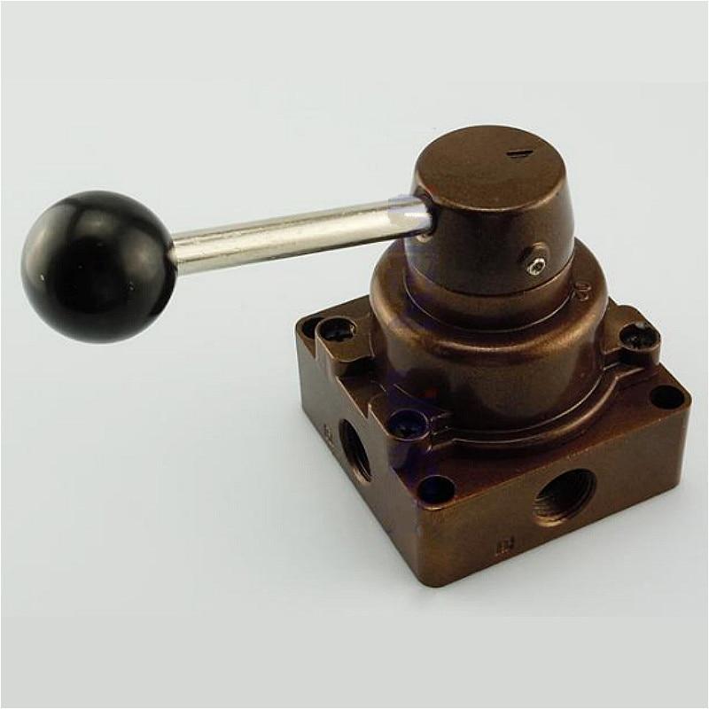 [해외]Aluminum Alloy Rotary lever hand valve HV-02/03/04 PT1/4\