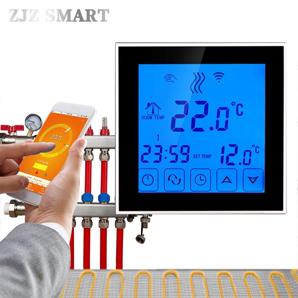[해외]스마트 하우스 와이파이 프로그래밍 가능한 app 지능형 물 난방 온도 조절기 온도 스위치 컨트롤러 컨트롤러 뜨거운 바닥에 대 한/스마트 하우스 와이파이 프로그래밍 가능한 app 지능형 물 난방 온도 조절기 온도 스위치 컨트롤러 컨트롤러 뜨거운