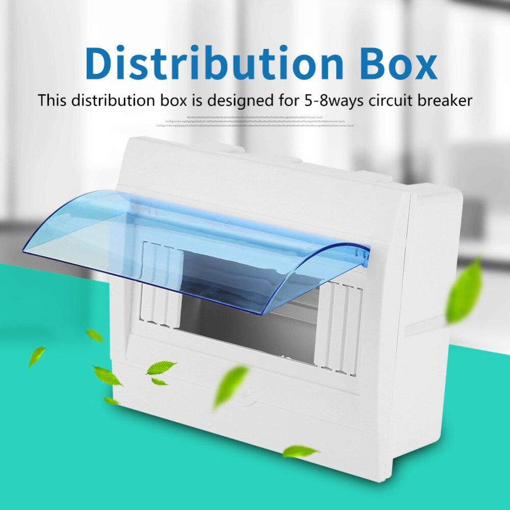 [해외]/1pc Plastic Distribution Protection Box Wall Distribution Box For 3-4,4-6,5-8,9-12 Ways Circuit Breaker Indoor On The Wall