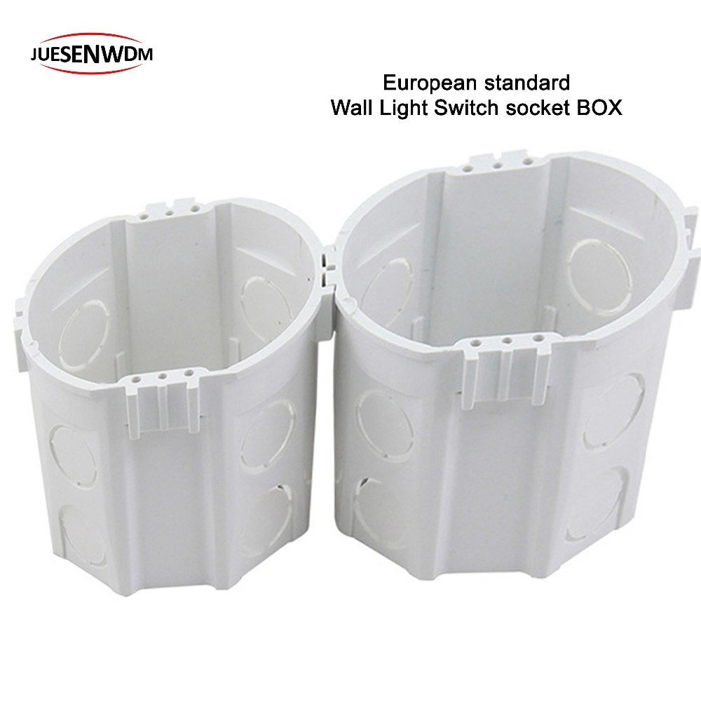 [해외]/EU Light Switch socket Round Wall mounting box for Embedded Internal mounting box