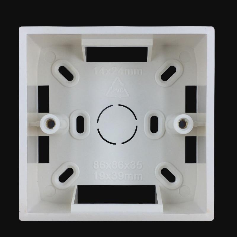 [해외]/Ming box 86 type bottom box switch socket panel junction box offline box wall mount base
