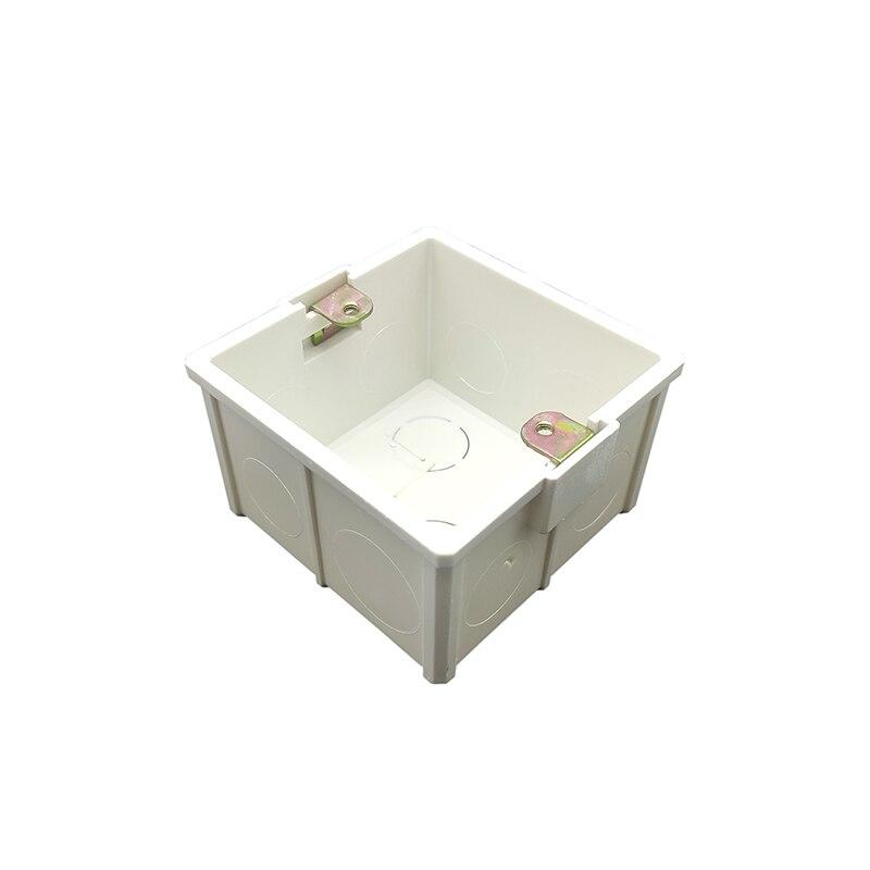 [해외]/White Plastic Thicker Materials 81mm*81mm Home Thermostat Holder Nation Standard Internal Mount Box for 86mm Wall Light Switch