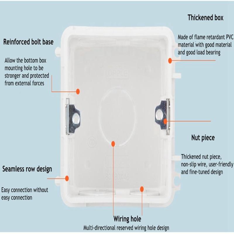 [해외]/1pcs Switch socket concealed cassette 86 type junction box universal wiring box