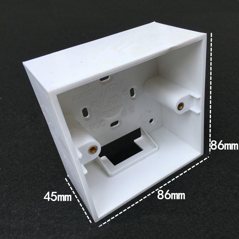 [해외]5pcs 유형 86 난연성 벽 마운트 스위치 상자 pvc 하단 범용 소켓 스위치 상자 86*86*45mm/5pcs 유형 86 난연성 벽 마운트 스위치 상자 pvc 하단 범용 소켓 스위치 상자 86*86*45mm
