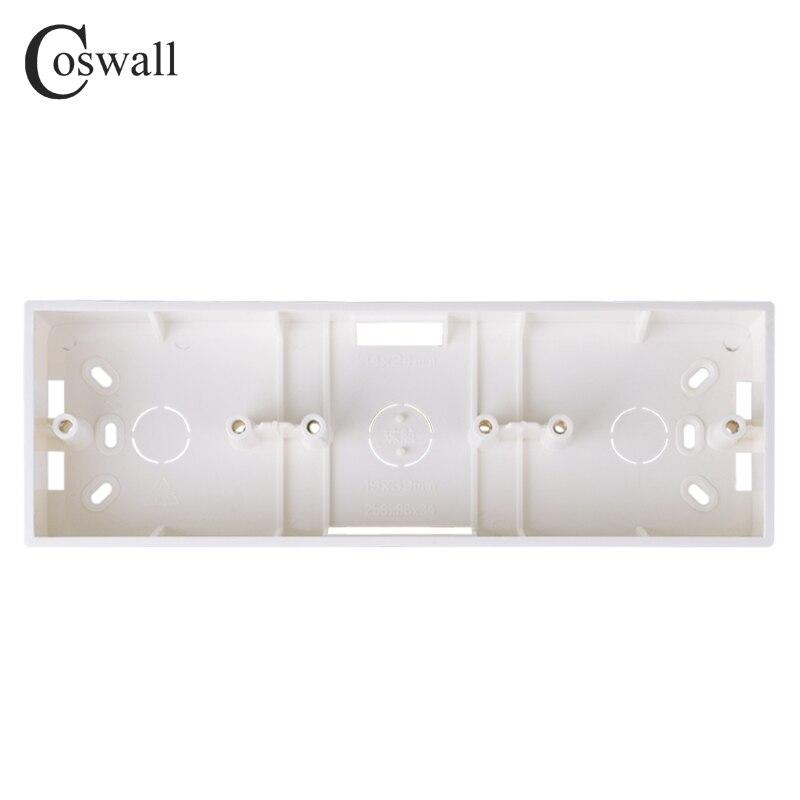 [해외]Coswall 외부 설치 상자 258mm * 86mm * 34mm 86 유형 트리플 스위치 또는 소켓 벽 표면의 모든 위치에 적용/Coswall 외부 설치 상자 258mm * 86mm * 34mm 86 유형 트리플 스위치 또는 소켓 벽 표면의