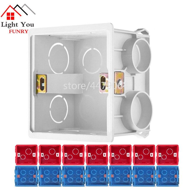 [해외]소켓베이스 복장 정션 박스 표면 장착 하단 상자 벽 스위치 소켓 범용 설치 상자 흰색