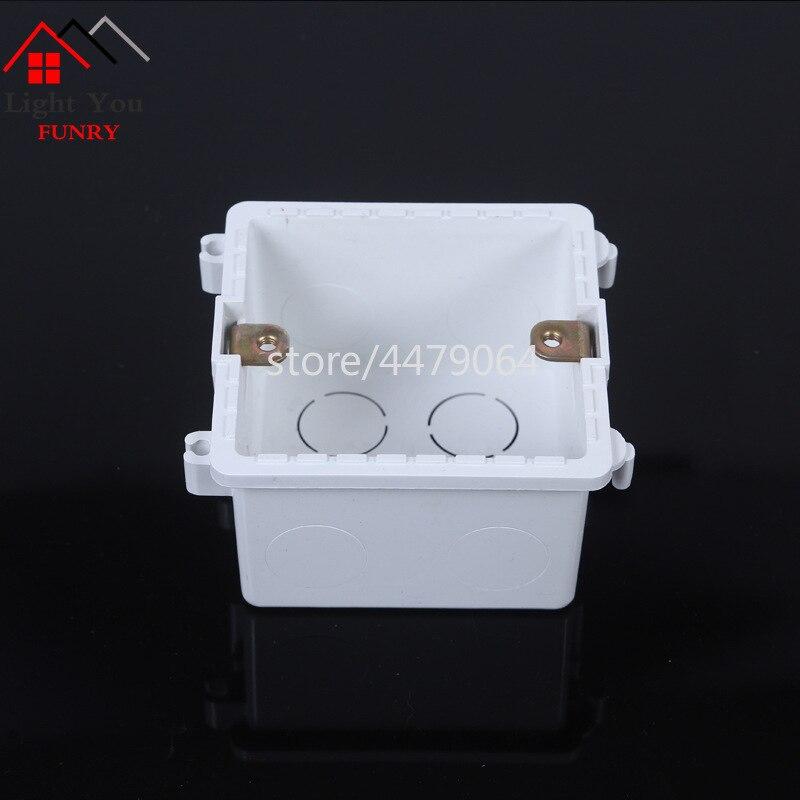 [해외]스위치 소켓 접합 설치 상자 범용 상자 다중 접합 상자 난연 바닥 상자 86mm * 86mm * 50mm