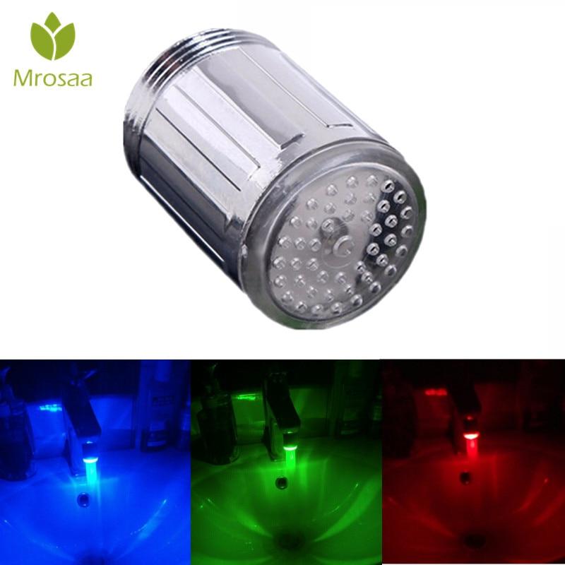 [해외]Mrosaa M24 ABS LED Faucet Aerators Temperature Sensor RGB 3 Color Changing Glow Kitchen Faucet Heads Tap Nozzle Accessories/Mrosaa M24 ABS LED Fau
