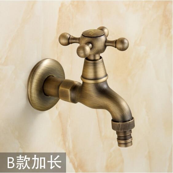 [해외]Fashion Antique Bronze total brass washing machine faucet,garden & Bathroom Wall Mounted basin faucetcross handle/Fashion Antique Bronze total