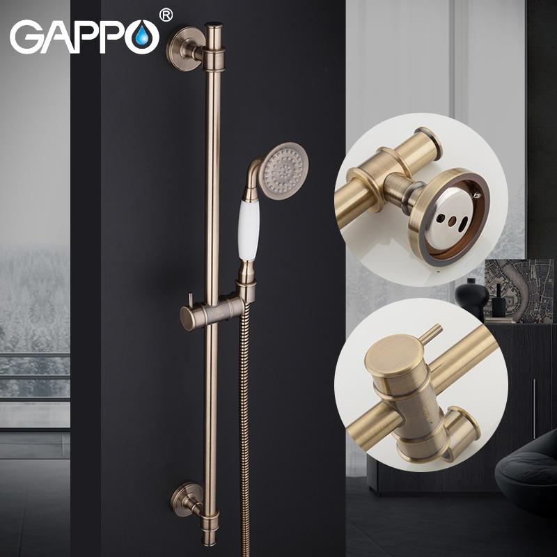 [해외]GAPPO shower faucet tap shower system wall mixer waterfall bathroom faucet set bronze brass bathroom mixer bath taps shower/GAPPO shower faucet ta