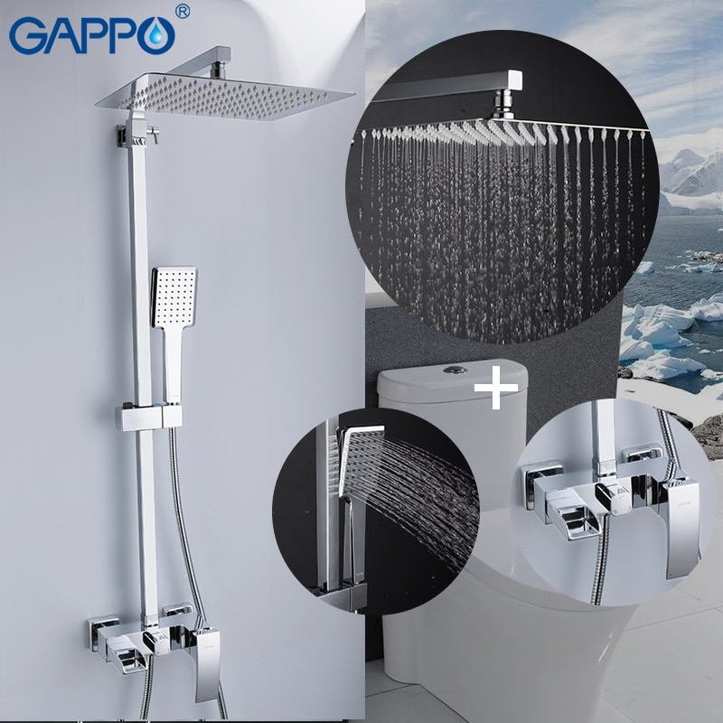 [해외]GAPPO shower Faucets brass bathroom shower set wall mounted massage shower head bath mixer bathroom shower faucet taps/GAPPO shower Faucets brass