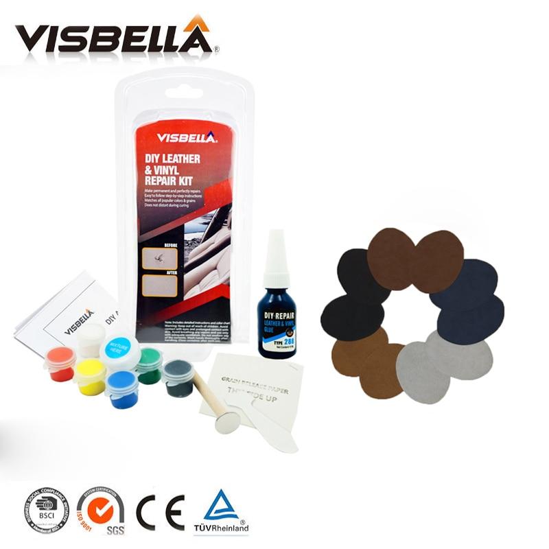 [해외]Visbella DIY Leather Vinyl Repair Kit Setadhesive Auto Car Seat Sofa Coats Holes Scratch Cracks Rips10pcs Patch Sealers/Visbella DIY Leather Vinyl