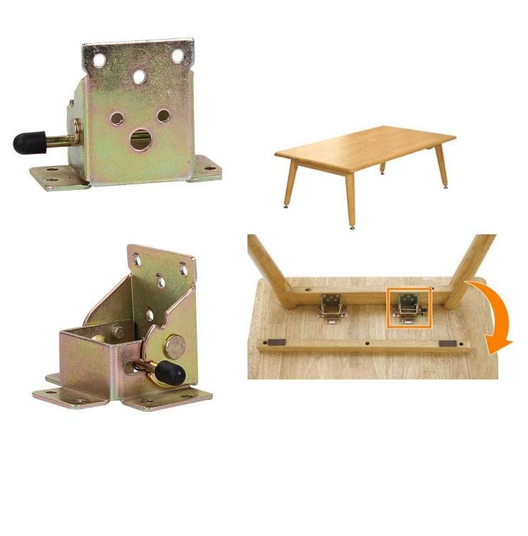 가구 다리 접이식 힌지 커넥터, 55x60x72mm 게이트 다리 테이블 접이식 다리 티 테이블 로커 힌지 gemel 커플 링 홈 하드웨어